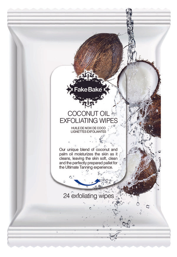Fake Bake Coconut Exfoliating Wipes 24PK