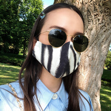 Load image into Gallery viewer, ZEBRA FACE MASK