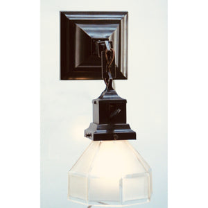 Vintage Wall Sconce with Hexagonal Shade