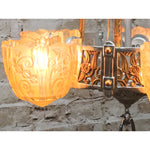 Lincoln Art Deco Slip Shade Chandelier #2050 - Filament Vintage Lighting