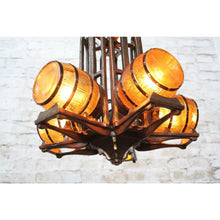 Load image into Gallery viewer, 1930s Tavern Chandelier by Gill Glass #1749