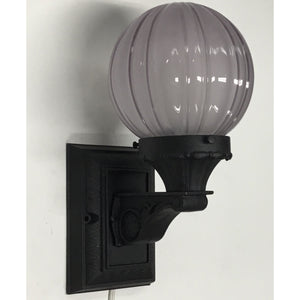 Classic Porch Light with Sheffield Pattern Shade #2004 - Filament Vintage Lighting