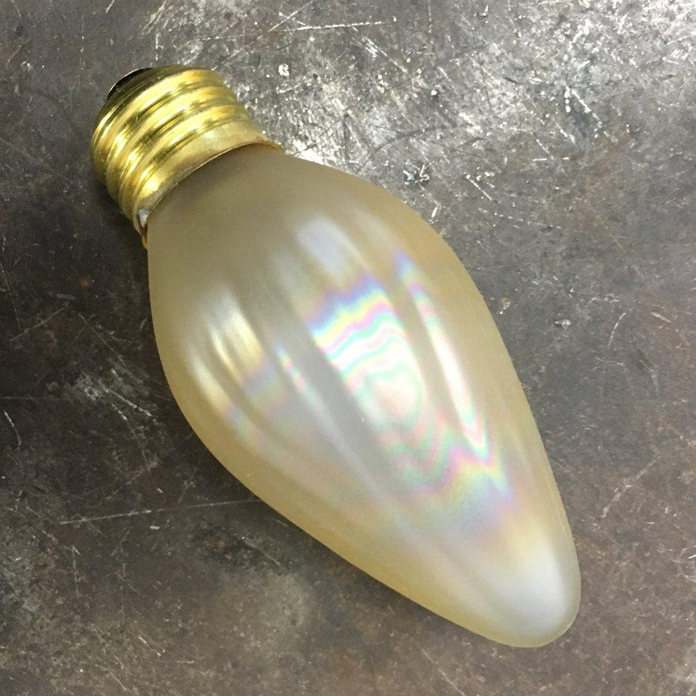 Painted  F15 Flame Bulb, Gold or Amber - Filament Vintage Lighting