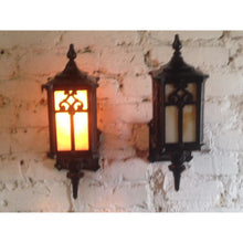 Load image into Gallery viewer, Pair 1920s Cast Iron Porch Sconces