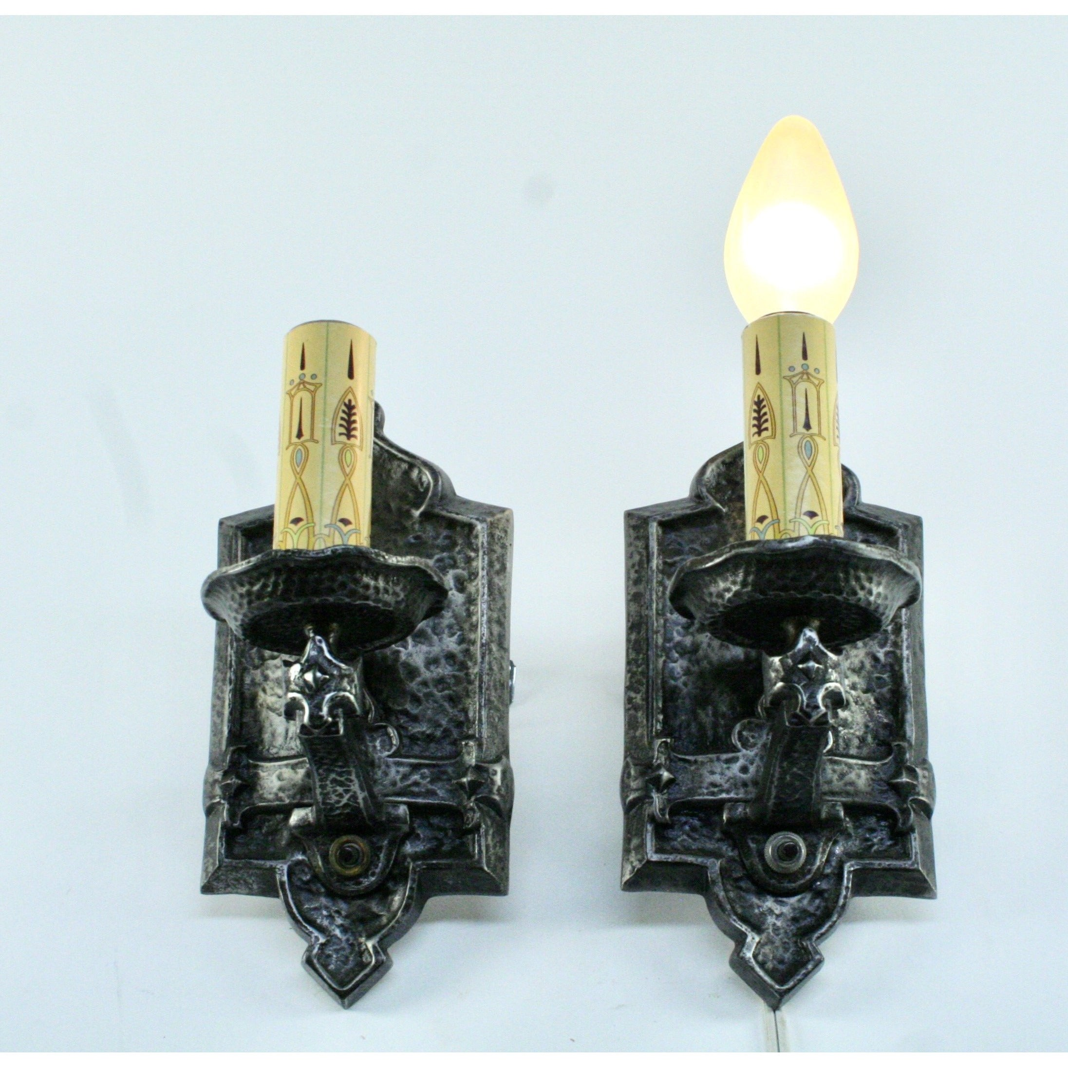 pair wall sconces by Halcolite