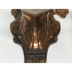 Moe Bridges Wall Sconces with Original Copper Finish Tudor Revival #2007 - Filament Vintage Lighting