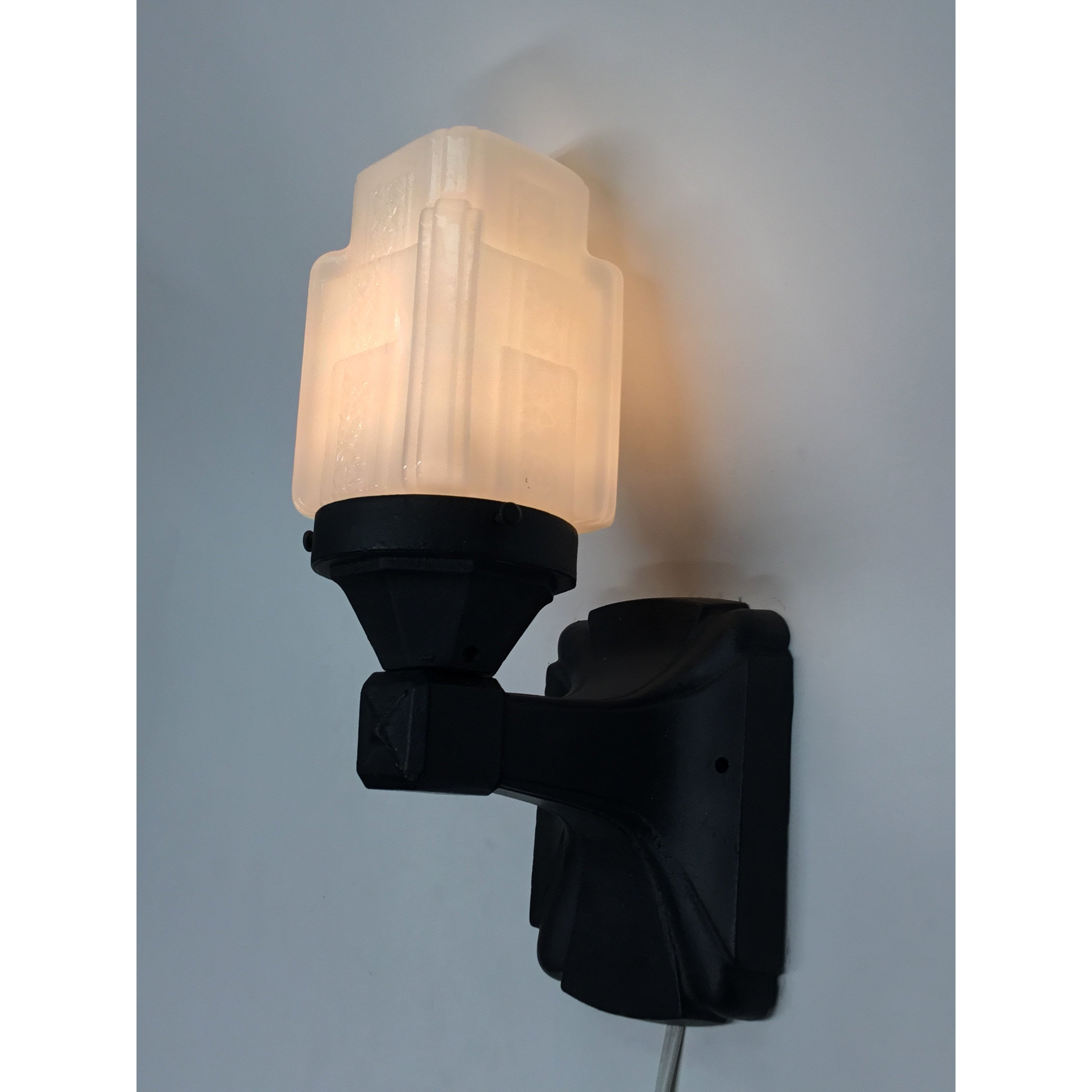 Porch Light with Art Deco Shade #2006 - Filament Vintage Lighting