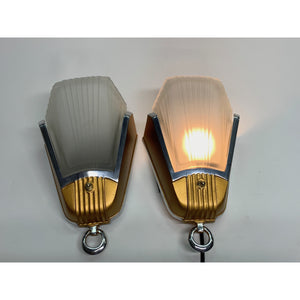 Pair Streamline Sconces by Mid-West Lighting #1914 - Filament Vintage Lighting