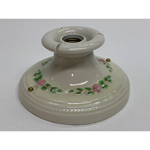 Pink Bead Bowl with Porcelain Fitter #2022