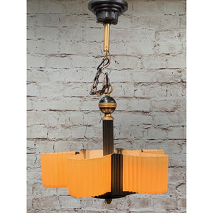 Markel Electric Streamline 5 light with Fluted Shades