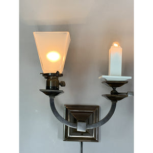 Antique Gas and Electric Arts and Crafts Sconces, Restored