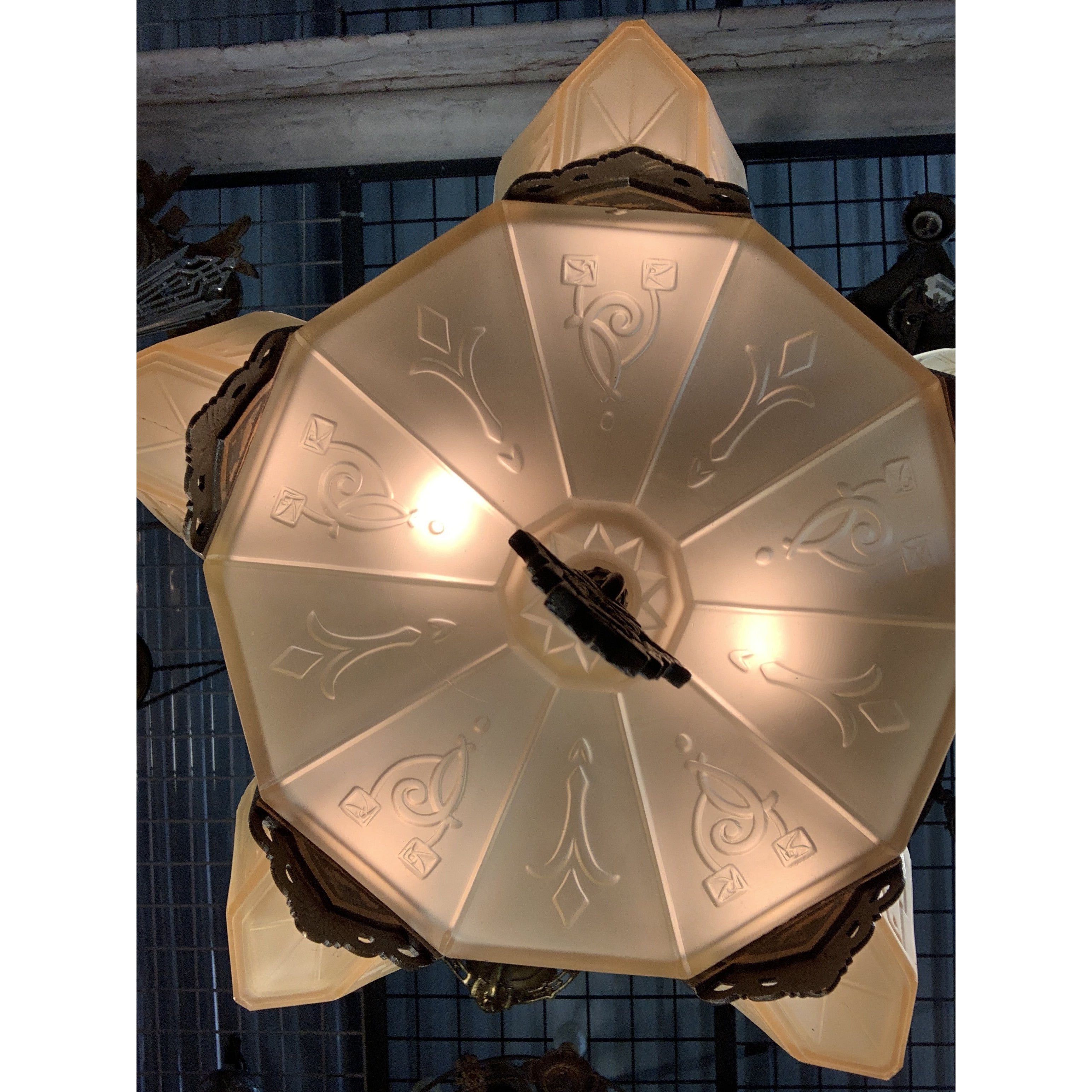 Markel Electric Solid Bronze Semi-Flush with Original Finish #2015 - Filament Vintage Lighting
