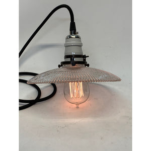 Pagoda Holophane Shade Pendant #2018 - Filament Vintage Lighting