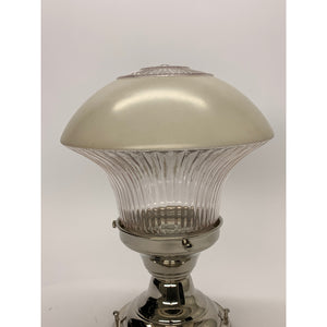 Mushroom Shaped Kitchen or Bath  Light, Nickel Fitter #2027 - Filament Vintage Lighting