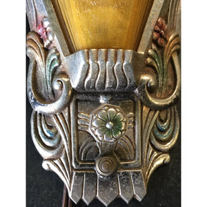 Single Art Deco Wall Sconce #1863 - Filament Vintage Lighting