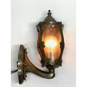 1920s Porch Sconce in Cast Bronze #2037 - Filament Vintage Lighting