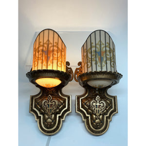 Art Deco Slip Shade Sconces by Williamson, ca 1928 #2038 - Filament Vintage Lighting