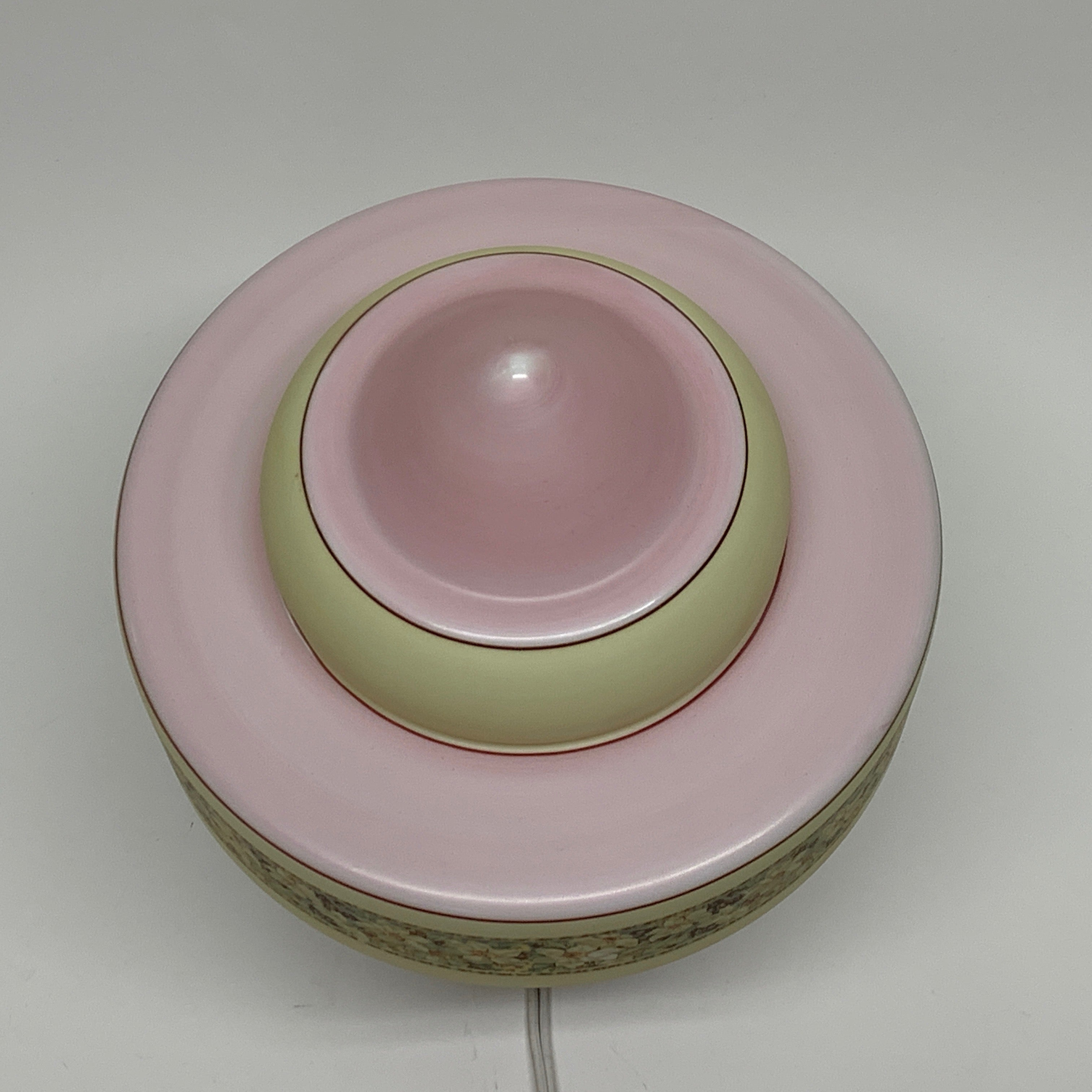 Pink Kitchen Light, ca 1940 #2040 - Filament Vintage Lighting