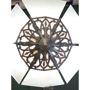 Semi Flush Art Deco Flat Panel Chandelier #1908 - Filament Vintage Lighting
