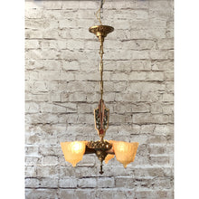 Load image into Gallery viewer, Lincoln Nile 3 LIght Art Deco Chandelier