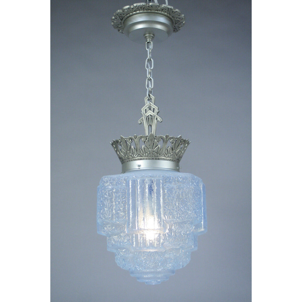 Commercial Art Deco Crown Pendant #2048 - Filament Vintage Lighting