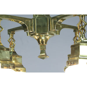 cast brass  craftsman chandelier