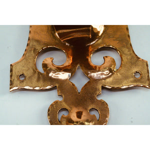 Handmade Brass and Copper Art Nouveau Wall Sconces in style of WAS Benson #2059