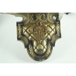 Detail of Williamson slip shade sconces