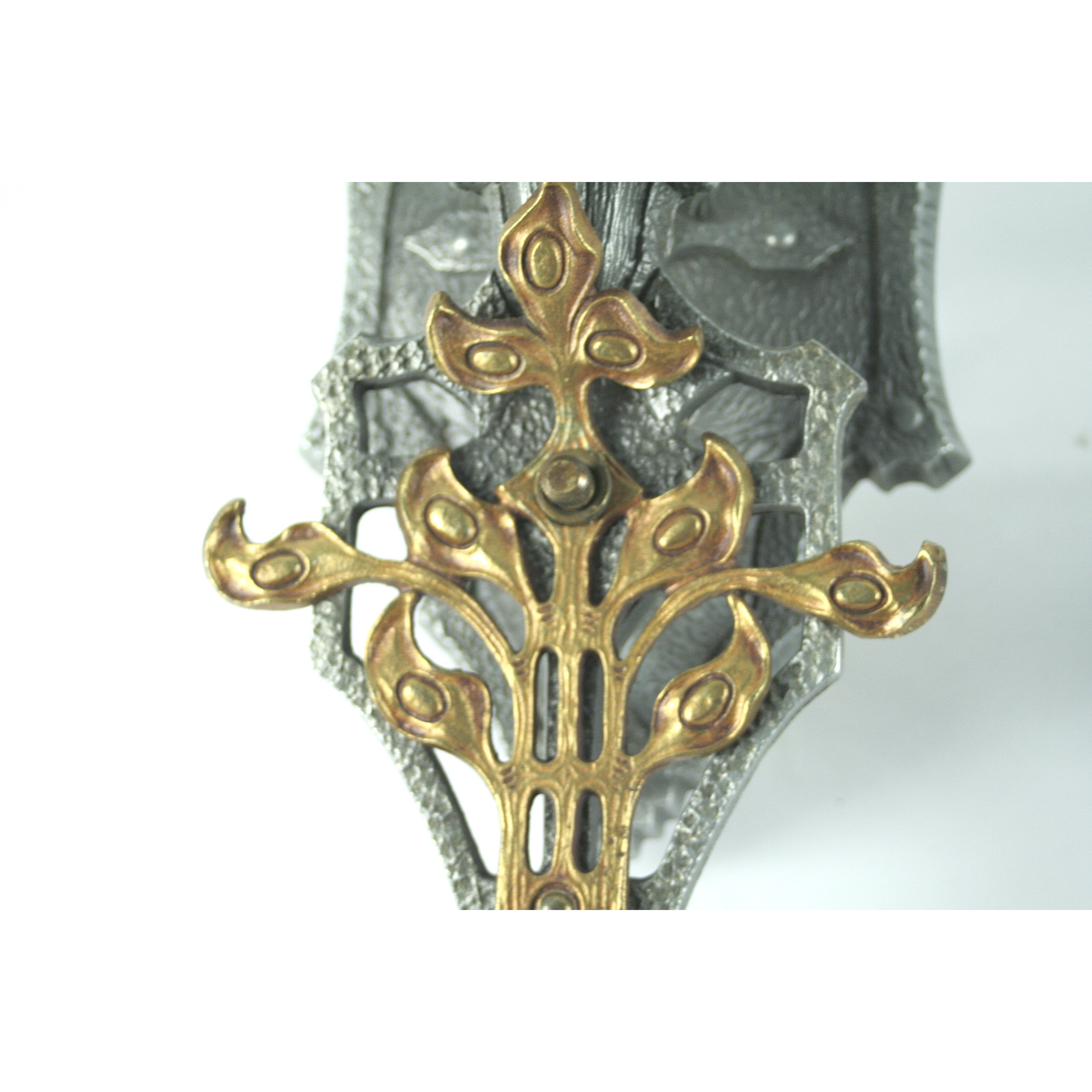switch and brass overlay on vintage sconce