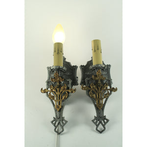 Front view spanish revival wall sconces