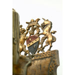 Close up of Thistle and Unicorn on Tudor Sconces