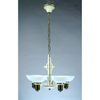 5 light 1940s bowl chandelier