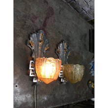 Load image into Gallery viewer, Vintage Lincoln Art Deco Wall Sconces  #1752