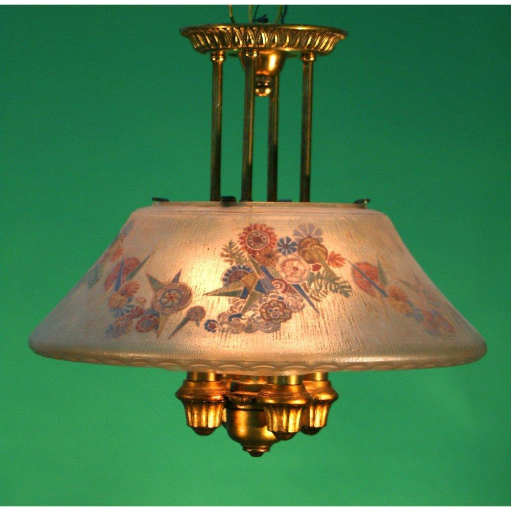 Lightolier Dining Fixture ca 1928, Art Deco or Art Nouveau, THREE available #1202 - Filament Vintage Lighting