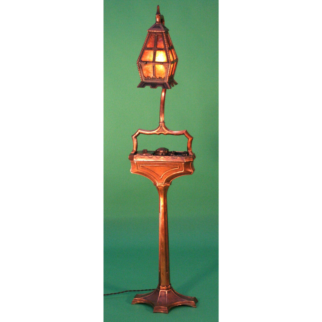 "Incredible Arts and Crafts ""Smoking"" Lamp #1237 - Filament Vintage Lighting"