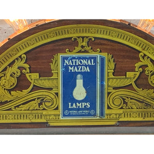 1920s Antique Mazda Light Bulb Store Counter Display - Filament Vintage Lighting