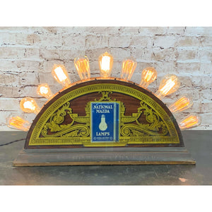 1920s Antique Mazda Light Bulb Store Counter Display