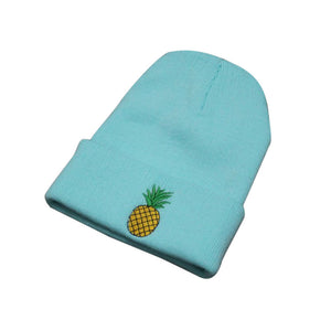 5dc2f042 2017 Fashion Cute Beanie caps Women pineapple Embroidered Beanie Stocking  Cap Hiking Male Skullies Couples Stocking
