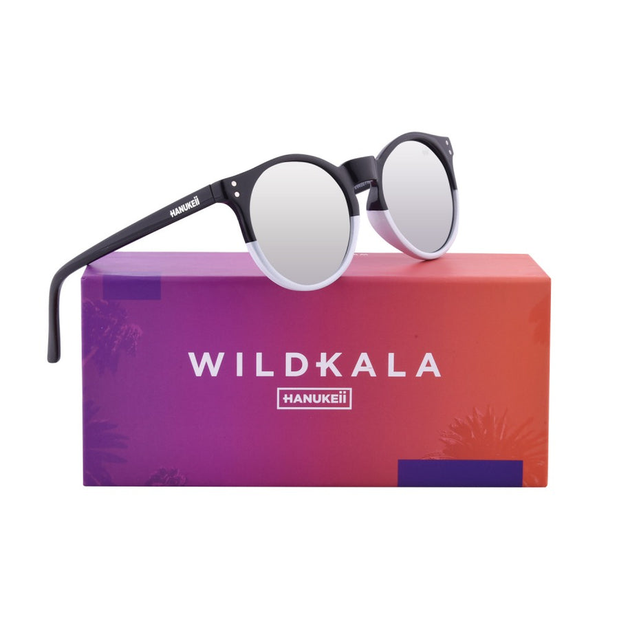 Ang Wildkala Black ug White Polarized Sunglasses HK-001-03
