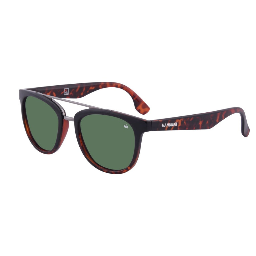 Nunkui Black and Tortoise Polarized Sunglasses HK-002-02