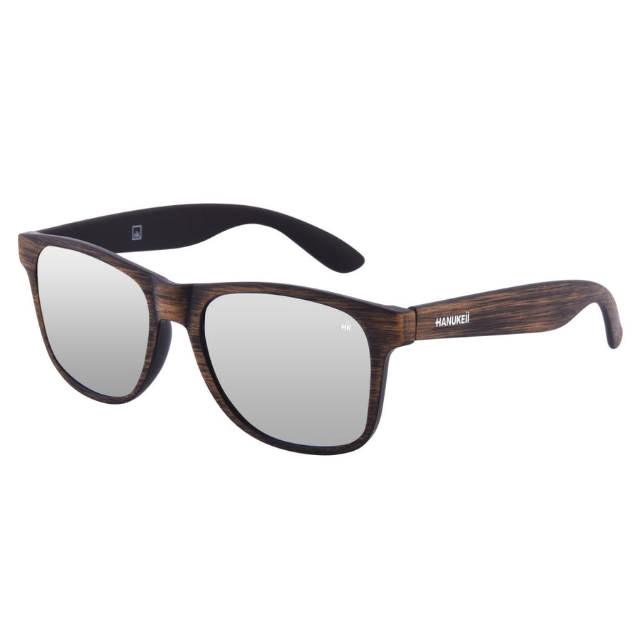 Kailani brown Wood polarized Sunglasses HK-003-07