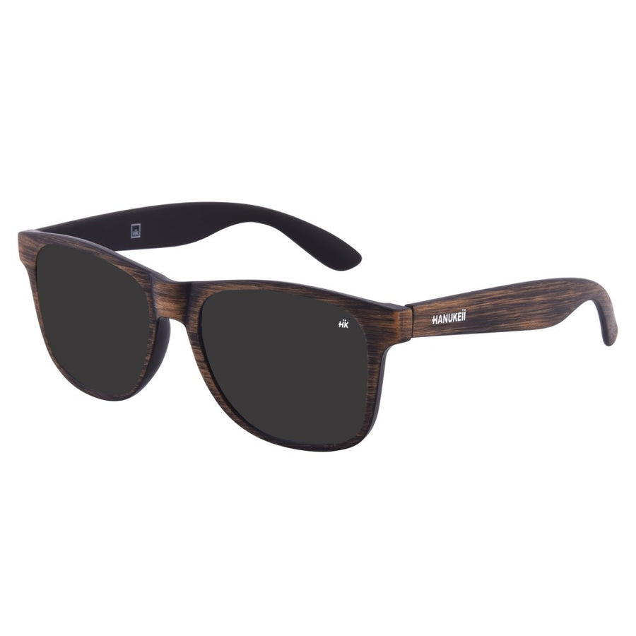 Kailani brown Wood polarized Sunglasses HK-003-08