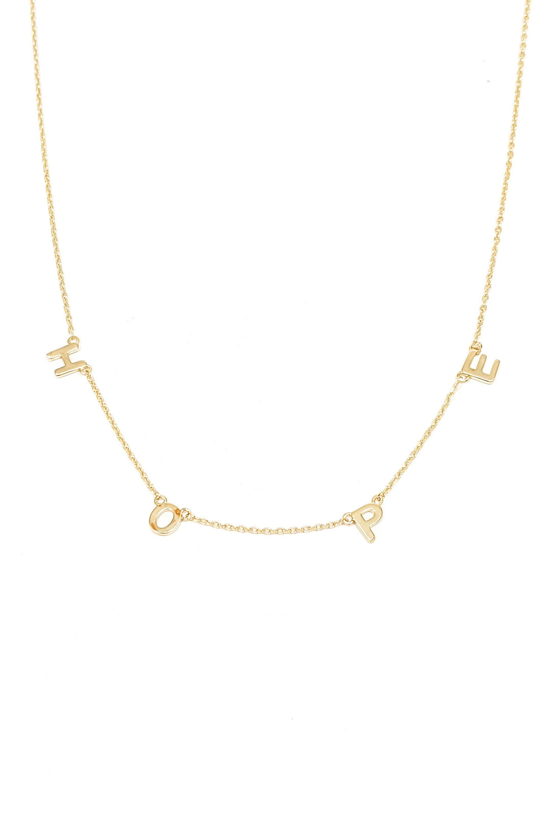 HOPE Word Necklace - GOLD