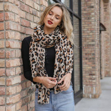 Load image into Gallery viewer, Leto Accessories - Leopard Print Woven Scarf