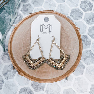 Mix Mercantile Designs - Peggy Earring-Beige