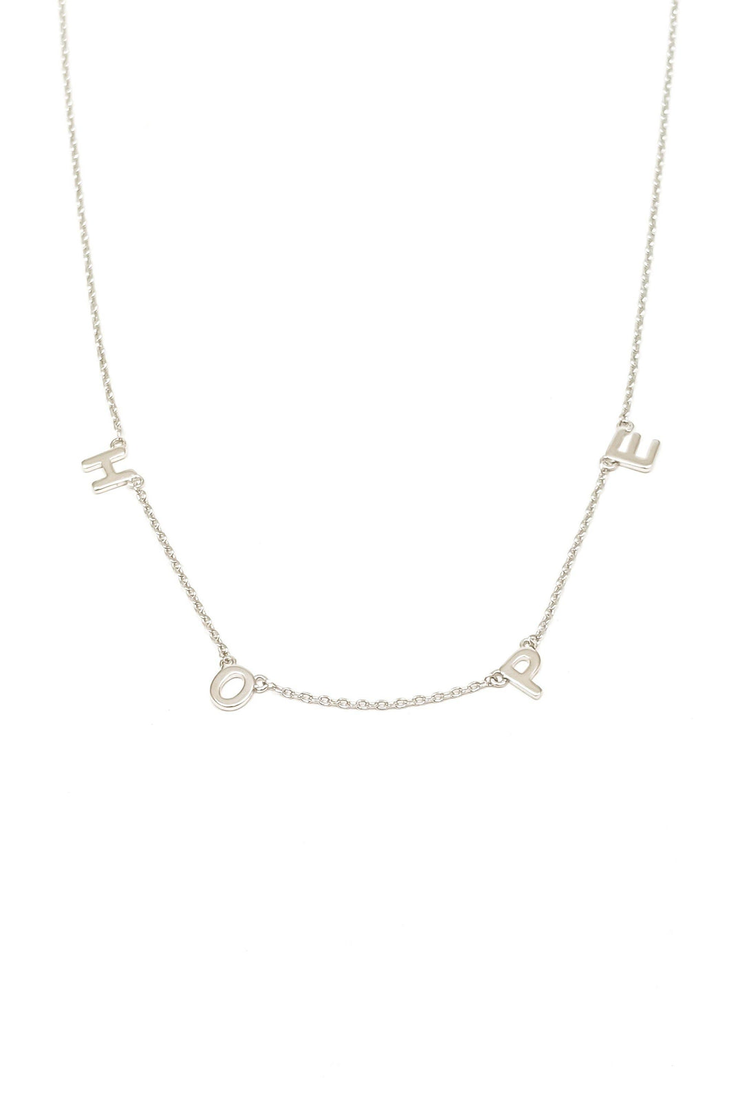 HOPE Word Necklace - SILVER