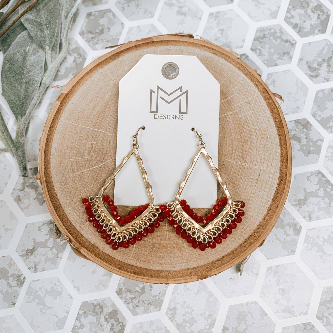 Mix Mercantile Designs - Peggy Earring-Burgundy