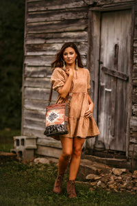 Acid washed tunic dress