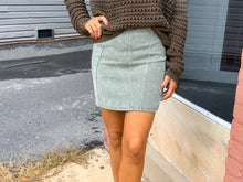 Load image into Gallery viewer, Mineral washed twill mini skirt