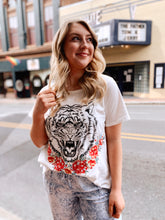 Load image into Gallery viewer, Eye of The Tiger Embroidered Tee